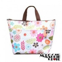 Insulated Tote Bag Cooler Lunch Box Bag - Flower